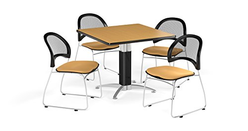 (OFM PKG-BRK-176-0053 Breakroom Package, Oak Table/Golden Flax Chair)