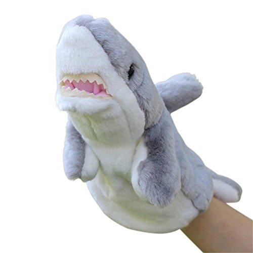(SUNONE11 Shark Hand Puppet Night Bedtime Story Tool Parent-child Baby Plush Toy Birthday Gift Soft Animal Doll)