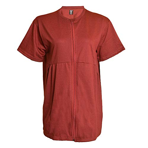 Inspired Comforts Mastectomy Recovery Shirt with Drain Pockets & Fasteners to Hold Drainage Tubes
