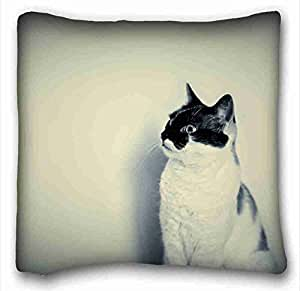 Custom Cotton & Polyester Soft Animal Custom Cotton & Polyester Soft Rectangle Pillow Case Cover 16x16 inches (One Side) suitable for King-bed
