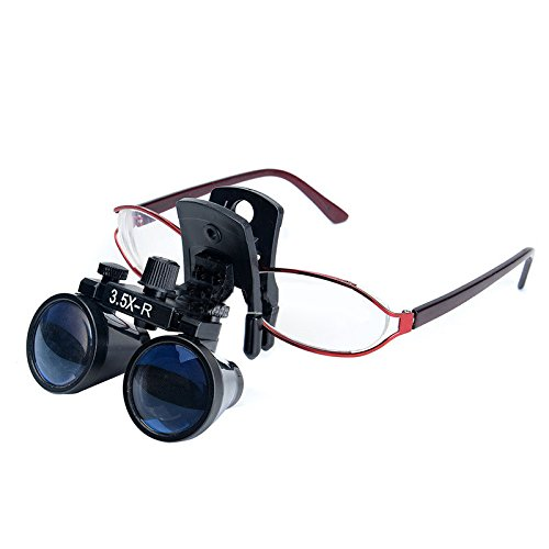Zgood Dental Binocular Loupes Surgical Glasses Magnifier Clip on Style DY-110 3.5X-R by ZGood (Image #6)