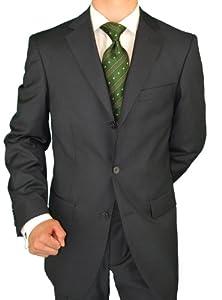 B0053O68IQ Giorgio Napoli Men's Three Button Jacket Pleated Pants Charcoal Suit (36 Short)