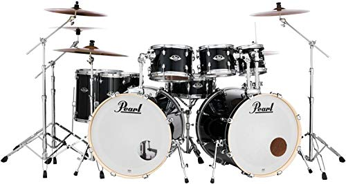 Pearl Export EXX 8-piece Double Bass Drum Set with Hardware - Jet Black