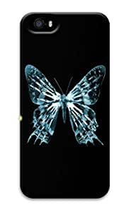 iPhone Cases, iPhone 5 Cases, iPhone 5S Cases Transparent Butterfly Fringe Custom Design iPhone 5S/5 Hard Case Cover - Polycarbonate