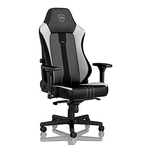 noblechairs Hero Gaming Chair - Office Chair - Desk Chair - PU Leather - 330 lbs - 125° Reclinable - Lumbar Support - Racing Seat Design - Limited Edition 2019 - Black/White - NO PILLOWSET