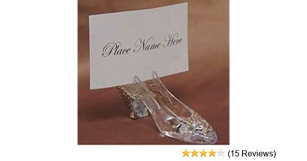 bcf4cd8c563 Amazon.com: Silver Cinderella Slipper Placecard Holders - 36 Place ...