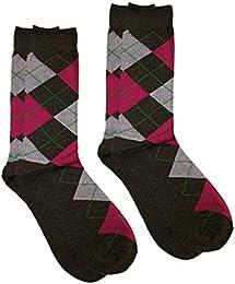Chaussettes en coton colorées fantaisie, 2 paires par paquet