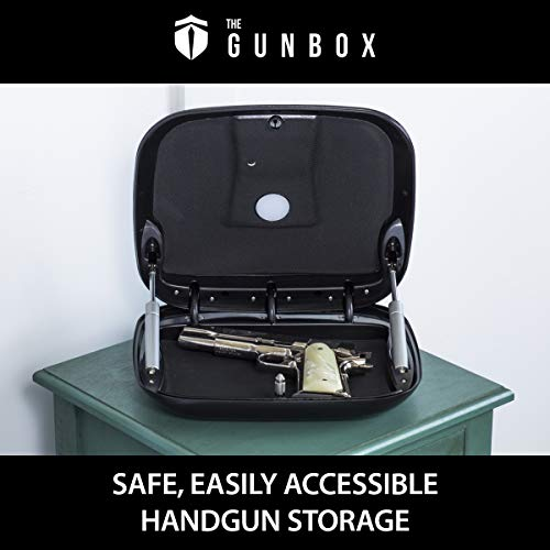 The GunBox 2.0 The Smartest Quick Access Gun Safe, Matte Carbon Black