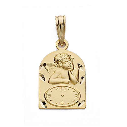 Médaille pendentif 18k or 18mm montre ange. [AA0586]