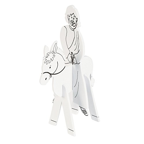 Fun Express - Cyo 3D Jesus On Donkey for Easter - Craft Kits - CYO - Paper - Misc CYO - Paper - Easter - 12 Pieces