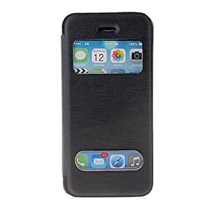 PU and PC Full Body Case with Double Front Window for iPhone 5C (Assorted Colors) --- COLOR:White