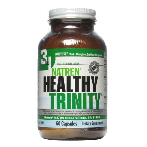 Natren Healthy Trinity Dairy Free Capsules, 60-Count (60 Capsules Healthy)