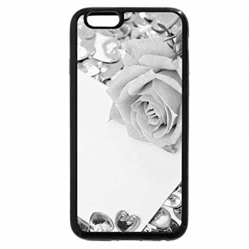 iPhone 6S Case, iPhone 6 Case (Black & White) - Violet rose...
