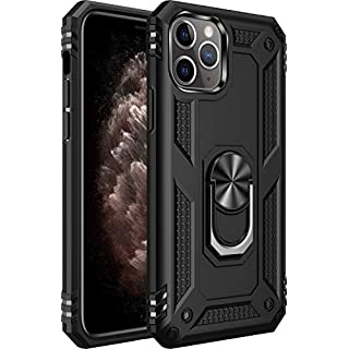 iPhone 11 pro max Case [ Military Grade ] 15ft. Drop Tested Protective Case   Kickstand   Compatible for Apple iPhone 11 pro max 6.5 Inch 2019-Black