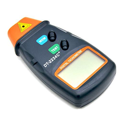 HoHome Photo Digital Tachometer, Handheld Non Contact RPM Tach Meter Motor Speed ()
