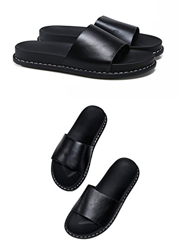Slippers Outdoor Sjmm Flat Fashion Slippers Bottomed Black Women's vnqwO