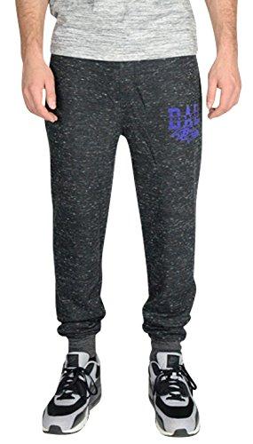 NFL Men's Team Logo Active Basic Snow Fleece Jogger Pants, Baltimore Ravens, BSN, Large