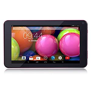 Contixo 7 inch Quad Core Google Android 4.4 Kitkat Tablet PC 8GB, 180 Degree View IPS 1024x600 HD Display, Bluetooth, Dual HD Cameras, WiFi - Includes Special Offers, 2015 DEC Edition