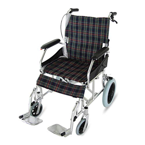 NKDK Aluminum Alloy Foldable Portable Wheelchair for Disabled Persons