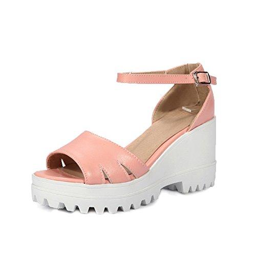 BalaMasa Womens Sandals High-Heel Huarache Urethane Sandals ASL04851 Pink dUSMkakfEj