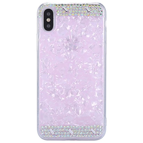 Case Sottile Protettivo Silicone Rosa Pro diamond Custodia Per Bumper Silicone Tpu Gomma X ultra Diamond Bling Tpu Backcover cover morechioce Moda Morbida Strass Iphone Glitter w6wpHanxq