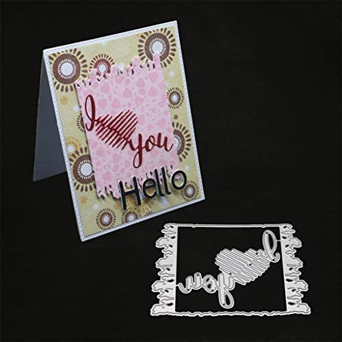 Square frame Metal DIY Cut Die Stencil Scrapbook Album Paper Card Emboss B fj