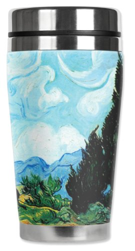 Mugzie Van Gogh Yellow Wheat Travel Mug with Insulated We...