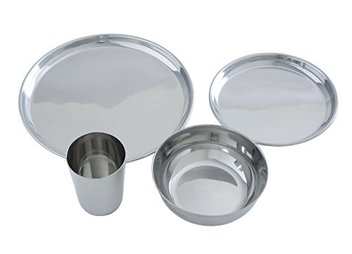 Stainless Steel Dinnerware - 16 Piece Family Pack by Clean Planetware