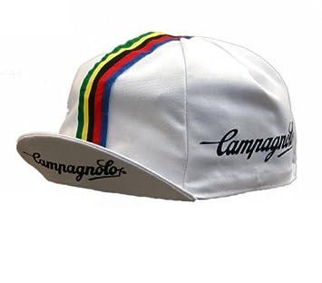 Campagnolo - Gorra para ciclismo, diseño retro, color blanco ...