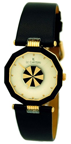 Le Chateau #2911 Women's Black Leather Band Casual Analog ()