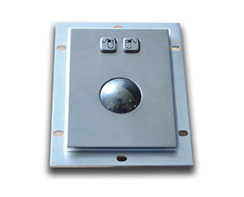 Stainless steel trackball - 38mm Diameter - Optical trackball - Waterproof - For kiosks and industrial control
