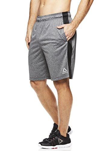 Reebok Men's Drawstring Shorts - Athletic Running & Workout Short - Dark Shade Dadson Grey, - Athletic Shades