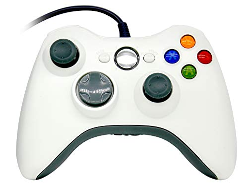 OSTENT Wired Controller Gamepad for Microsoft Xbox 360 Console PC Computer Video Game Color White