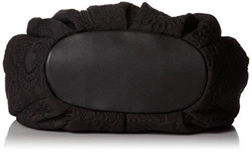 Petunia Pickle Bottom Hideaway Hobo - Bolso bandolera, color negro