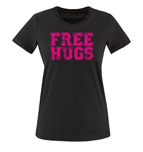 Shirts Hugs Comedy Xs T Maglietta xxl Taglia shirt Nero Free Donna Colori Fucsia Vari 4Uqqdfw