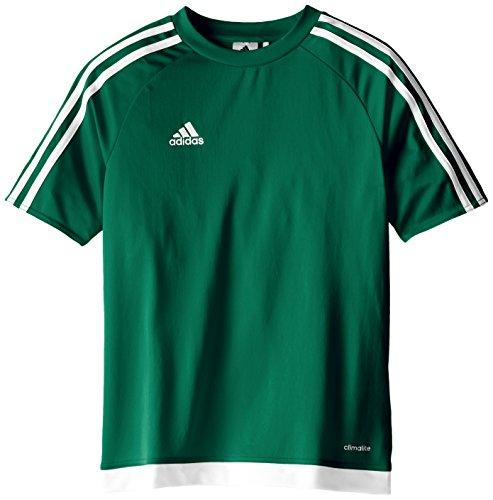 adidas Kids Soccer Estro Jersey, Collegiate Green/White, Medium