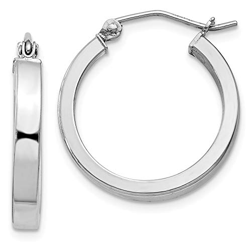 925 Sterling Silver Square Tube Hoop Earrings Ear Hoops Set Round Fine Jewelry Gifts For Women For Her