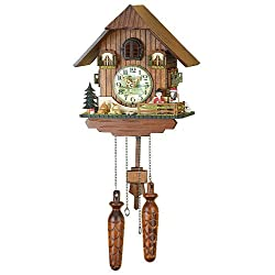 German Cuckoo Clock Quartz-movement Chalet-Style 10.00 inch - Authentic black forest cuckoo clock by Trenkle Uhren