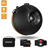 KALACAM Action Camera 4K Waterproof Floating Sports Camcorder WiFi Video cam Underwater 98ft 16MP EIS Wide Angle Lens 155 Degree with Remote Controller,Black