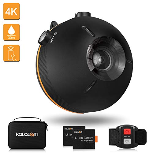 KALACAM Action Camera 4K Waterproof Floating Sports Camcorder WiFi Video cam Underwater 98ft 16MP EIS Wide Angle Lens 155 Degree with Remote Controller,Black For Sale