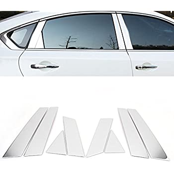 8pc Stainless Steel Window Chrome Pillar Posts Cover For Nissan Altima 2016 2017