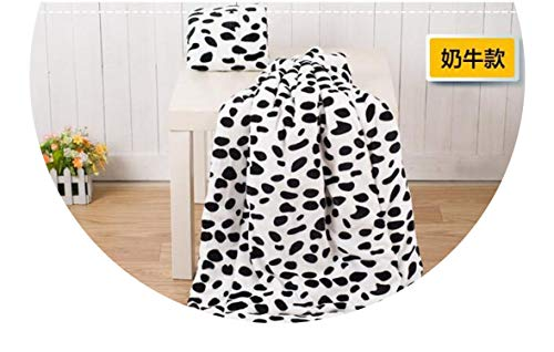 (1pcs Pet Dog Bed Blanket Cushion Mat Pad Dog Cat Kennel Crate Soft Sleeping House,Cow,M 81x64cm)