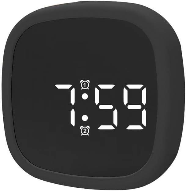 DEtrade Despertador Digital, Pantalla LED, de Silicona, Activado por Voz, Reloj de Mesa con Control por Voz