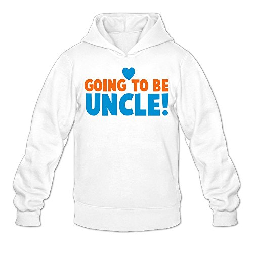 Nacustom Mens Cool Going To Be Uncle With Love Heart Newborn Uncles Shirt Hoodies Sweatshirt Xl White