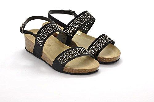 GRUNLAND SB0880 ANIN Sandalo Donna S. Nero
