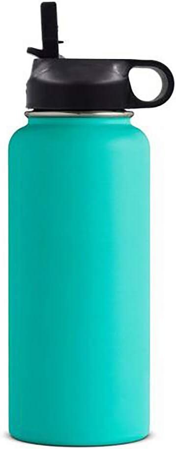 Magiin Tapa de Paja para Botellas de Agua con Pajitas Cepillo de Paja Tapas de Botellas para Senderismo Acampar Montar a Caballo Correr Yoga Actividades Interiores Exteriores