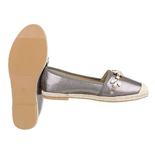 Ital-Design - Tobillo bajo Mujer gris plateado