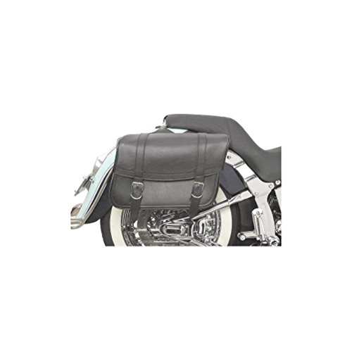 Saddlemen X021-02-041 Large Plain Highwayman Slant-Style Saddlebag (Large Slant Saddlebags)
