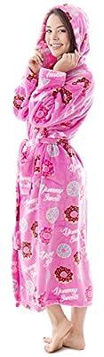 Livingston Soft Warm Winter Luxurious Flannel Long Sleeve Bath Robe w/Pockets