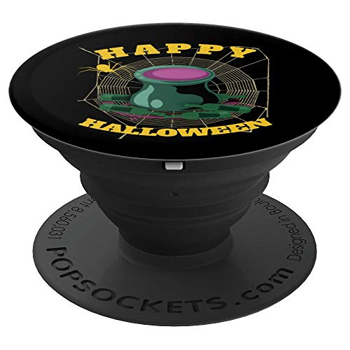 Happy Halloween Scary Spider Web Funny Gift Grip Idea - PopSockets Grip and Stand for Phones and Tablets -